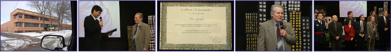 This certificate is presented to: Peter Spyros Goudas